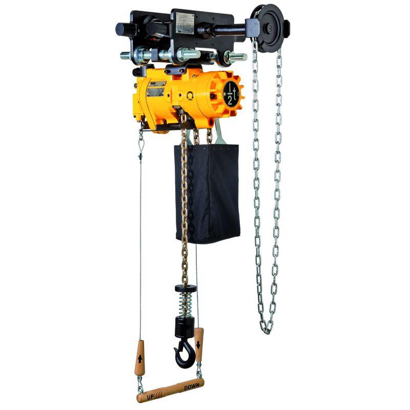 Yale CPA 1-13 - CPA HTG - wciągnik łańcuchowy z wózkiem ręcznym i sterowaniem linkowym.