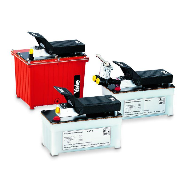 Yale PAY - Yale PAY - zestaw pomp hydraulicznych z napędem pneumatycznym w wersjach małogabarytowych