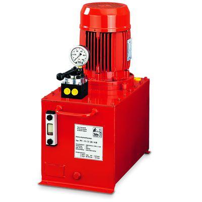 Yale PY - elektryczny agregat hydrauliczny z dwustopniowym przepływem oleju i ręcznie sterowanymi zaworami