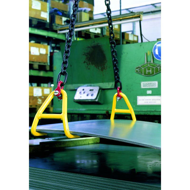 Yale Tigrip BVH - hakowy uchwyt do poziomego transportu blach na niewielkiej wysokości - wymiary