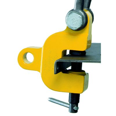 Yale Tigrip TSZ - uchwyt śrubowy do blach i elementów konstrukcyjnych w pracy