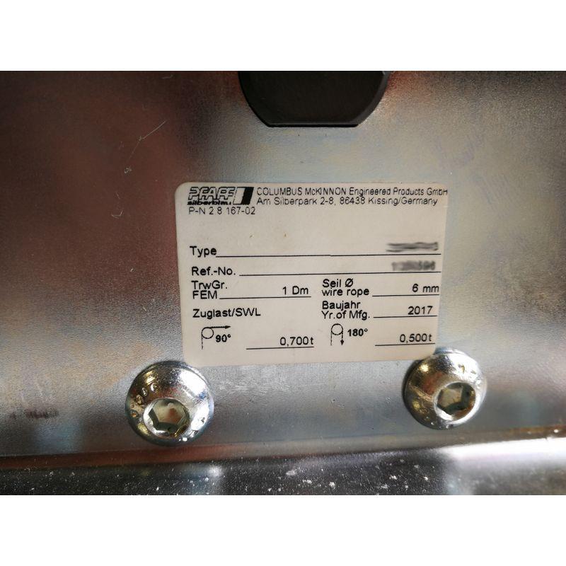 Pfaff DSRB S 90/4 - Pfaff DSRB S - tabliczka znamionowa zblocza stacjonarnego