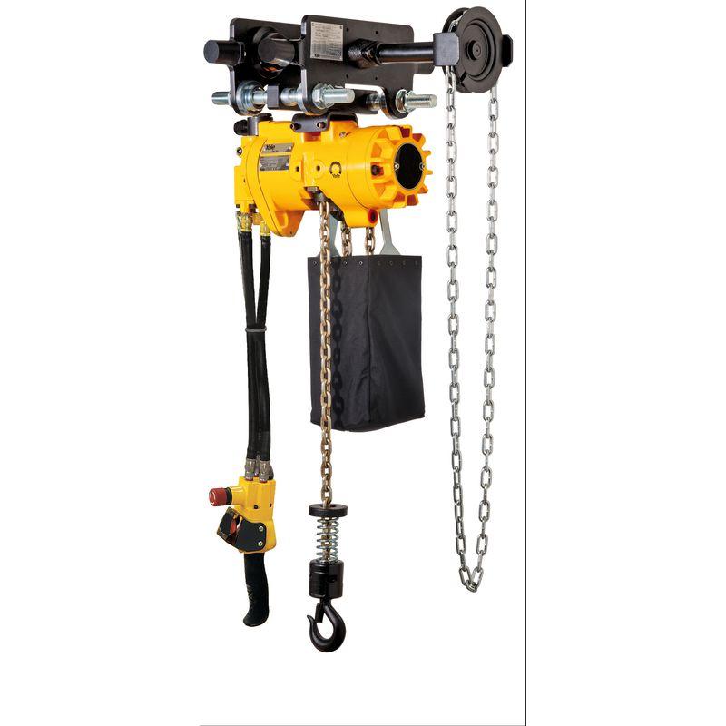 Yale CPA VTG - pneumatyczny wciągnik łańcuchowy z wózkiem ręcznym i sterowaniem linkowym